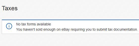 ebay taxpayer details